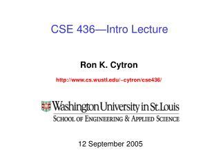 CSE 436—Intro Lecture