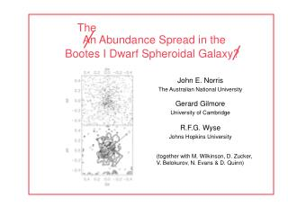 An Abundance Spread in the Bootes I Dwarf Spheroidal Galaxy?