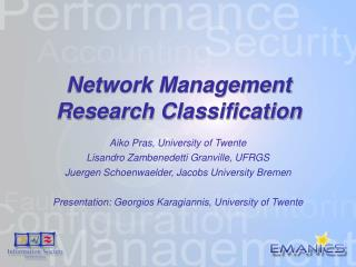 Network Management Research Classification