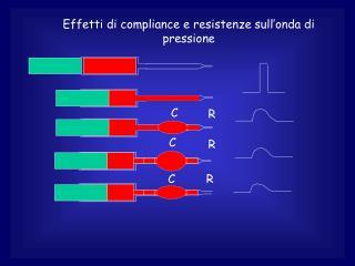 Effetti di compliance e resistenze sull'onda di pressione