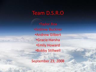 Team D.S.R.O