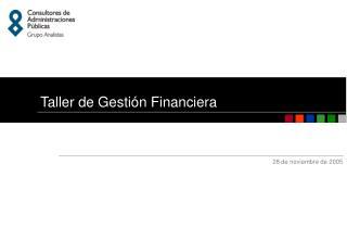 Taller de Gestión Financiera