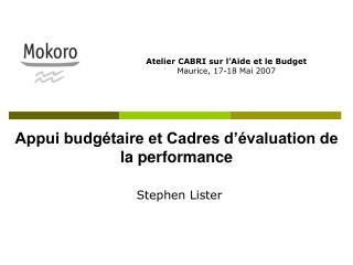 Appui budgétaire et Cadres d'évaluation de la performance