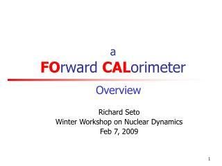 a  FO rward  CAL orimeter