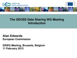 The GEOSS Data Sharing WG Meeting Introduction