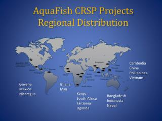 AquaFish CRSP Projects  Regional Distribution