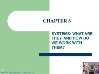 SYSTEMS: WHAT ARE THEY, AND HOW DO WE WORK WITH THEM