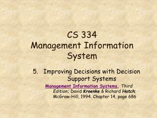 CS 334 Management Information System