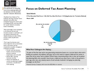 Focus on Deferred Tax Asset Planning