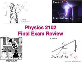 Physics 2102  Final Exam Review