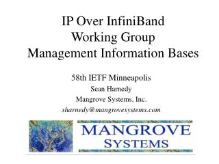 IP Over InfiniBand Working Group Management Information Bases