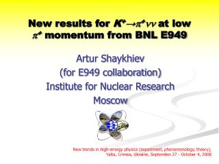 New results for  K + →  +   at low  + m omentum from BNL E949