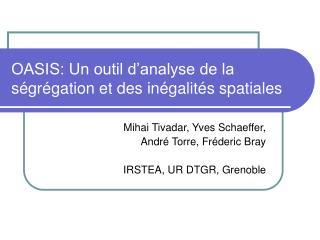 OASIS: Un outil d'analyse de la ségrégation et des inégalités spatiales