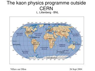 The kaon physics programme outside CERN