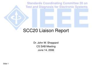SCC20 Liaison Report