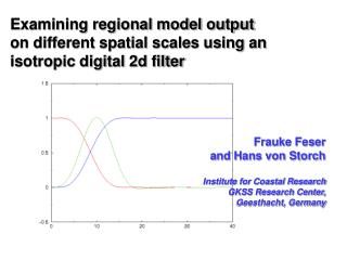 Examining regional model output on different spatial scales using an isotropic digital 2d filter