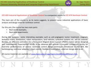 Ugur Hasirci Background Gebze  Institute of Technology  '11   PhD
