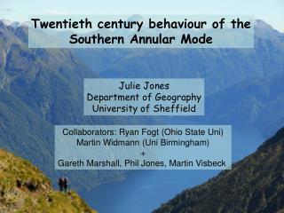 Twentieth century behaviour of the Southern Annular Mode