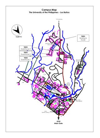 Campus Map The University of the Philippines - Los Ba�os