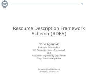 Resource Description Framework Schema (RDFS)
