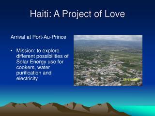 Haiti: A Project of Love