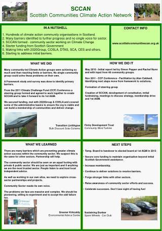 SCCAN Scottish Communities Climate Action Network