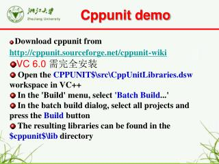 Cppunit demo