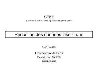 GTEP (Groupe de travail sur les éphémérides planétaires)