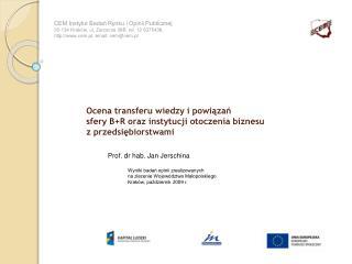 Prof. dr hab. Jan Jerschina