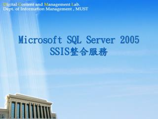 Microsoft SQL Server 2005 SSIS 整合服務