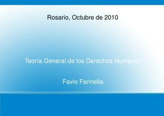 Teoría General de los Derechos Humanos Favio Farinella