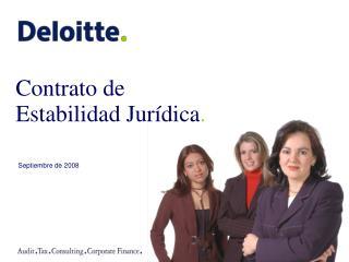 Contrato de Estabilidad Jurídica .