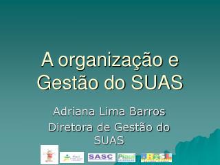 A organização e Gestão do SUAS