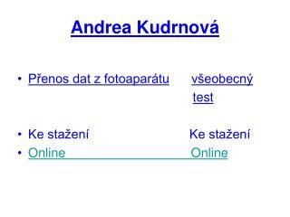Andrea Kudrnová