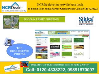 Luxurious flats available in Sikka Karmic Greens Sector 78 N