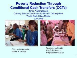 Women enrolling in the Child Support Program in Pakistan