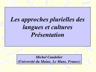 Les approches plurielles des langues et cultures Présentation