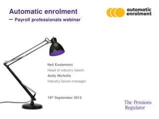 Automatic enrolment  –  Payroll professionals webinar