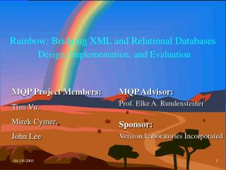 Rainbow: Bridging XML and Relational Databases Design, Implementation, and Evaluation
