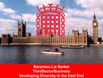 Baroness Liz Barker ThirdSectorBusiness Developing Diversity in the East End