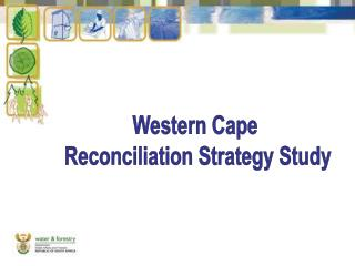 Western Cape  Reconciliation Strategy Study