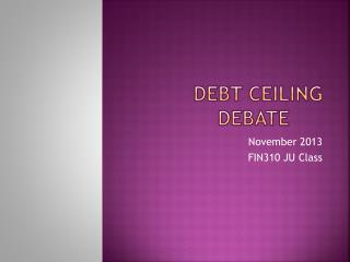 Debt Ceiling Debate