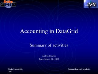 Accounting in DataGrid