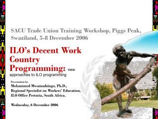 SACU Trade Union Training Workshop, Piggs Peak, Swaziland, 5-8 December 2006