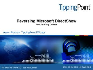 Reversing Microsoft DirectShow And 3rd Party Codecs