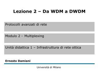 DA WDM a DWDM (1)