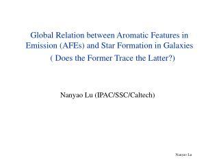 Nanyao Lu (IPAC/SSC/Caltech)