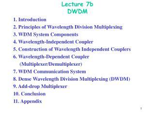 Lecture 7b DWDM