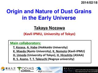 Origin and Nature of Dust Grains in the Early Universe