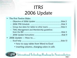 ITRS  2006 Update
